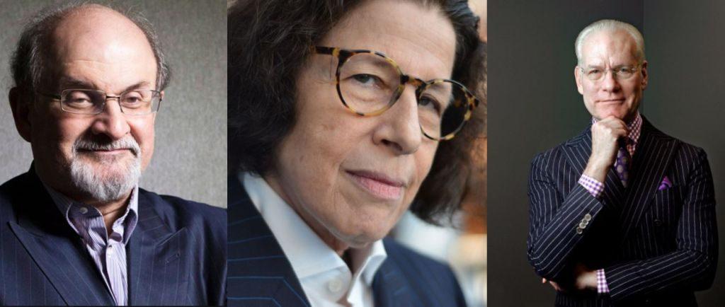 Salman Rushdie, Fran Lebowitz and Tim Gunn