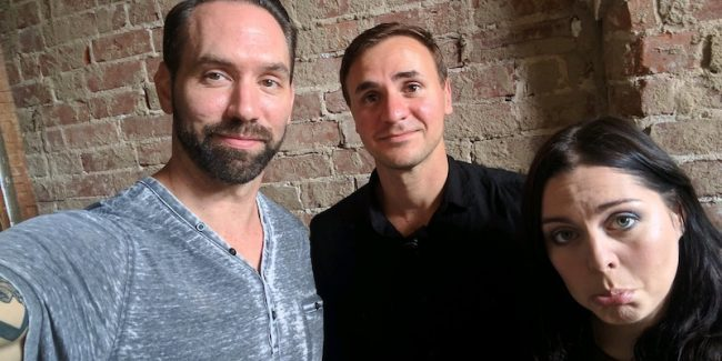 Nick Groff, Rob Saffi and Katrina Weidman