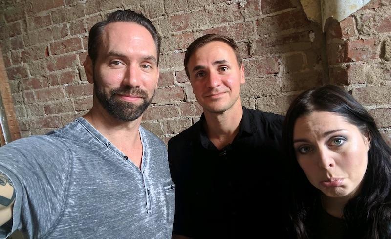 Nick Groff, Rob Saffi and Katrina Weidman