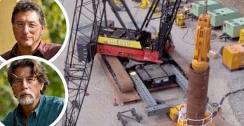 Marty and Rick Lagina and drilling operations on The Curse of Oak Island