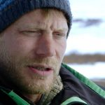 Shawn Pomrenke talking to the camera on Bering Sea Gold