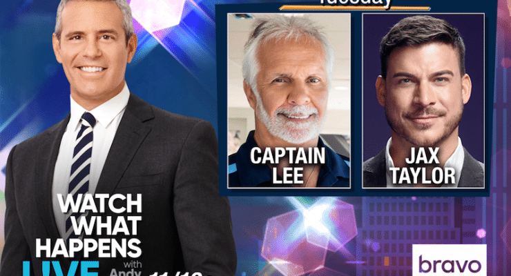 Captain Lee and Jax Taylor appear on Watch What Happens Live with Andy Cohen