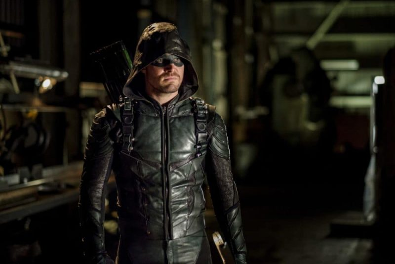 Oliver Queen (Stephen Amell) as the Green Arrow