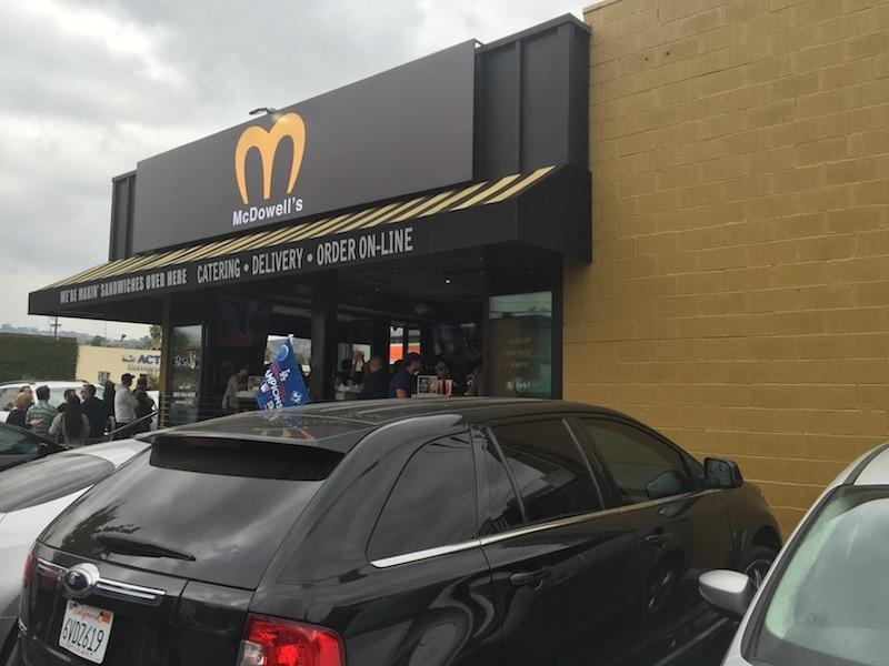 Outside McDowell's
