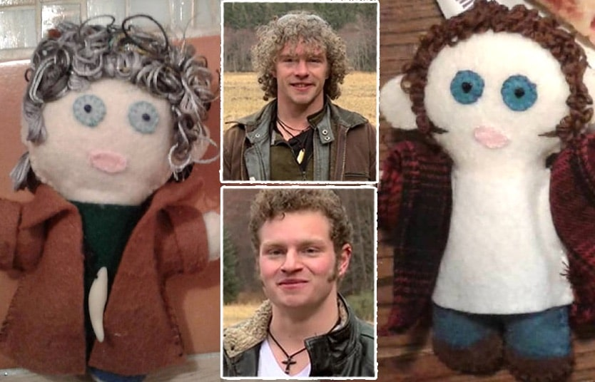 Matt and Gabe Brown from Alaskan Bush People and the plushy versions of themselves