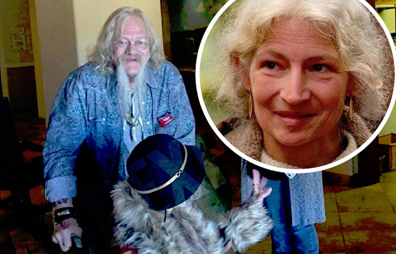 Ami in a wheelchair with Billy and, inset, on Alaskan Bush People