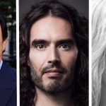 Billy Crystal, Russell Brand and Olivia Nuzzi