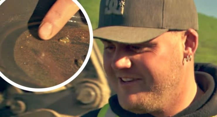 Gold Rush exclusive: Brennan saves Parker's butt as he finds first gold-rich paydirt at new cut