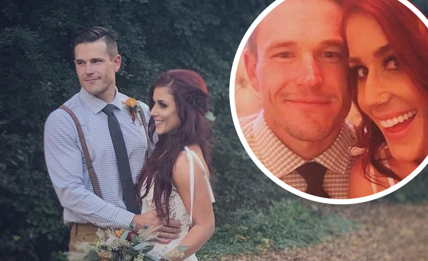 Chelsea Houska and husband Cole DeBoer at their wedding reception