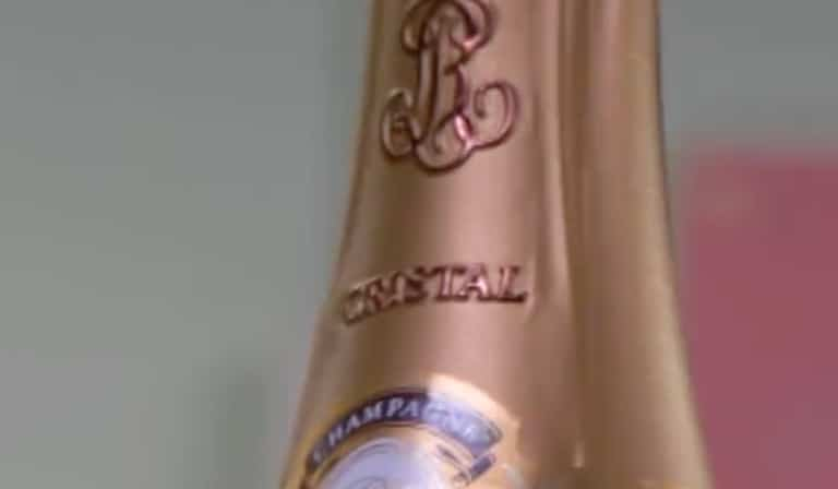 Cristal Champagne bottle