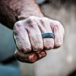 An Enso Ring on a rock climber's hand