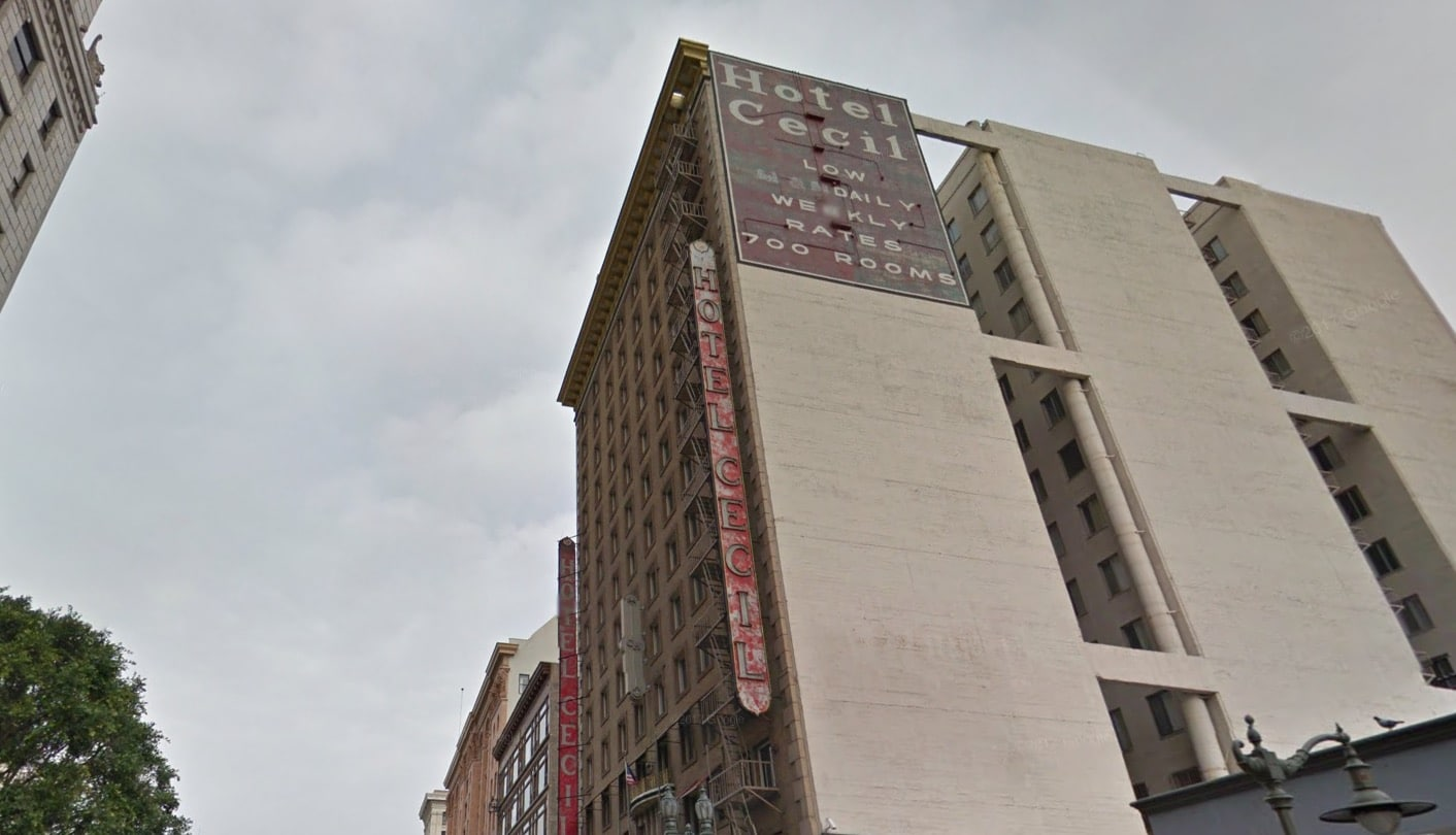 Hotel Cecil Outisde on Richard Ramirez Night Stalker