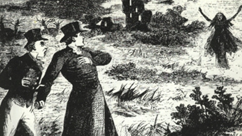 Josh Gates' Destination Truth search for the banshee, shown in this sketch from the 1800s