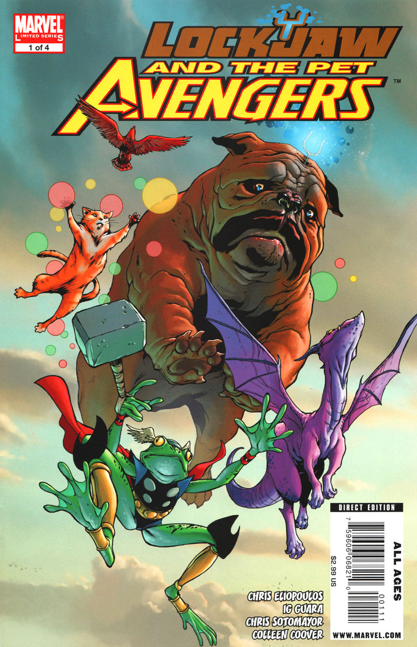 Lockjaw and the Pet Avengers comic book cover