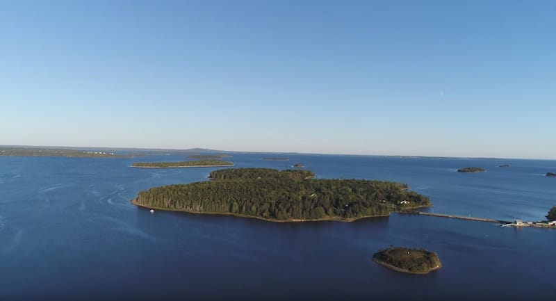 Oak Island seen from a drone