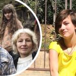 Rain Brown and an inset of her with her parents on Alaskan Bush People
