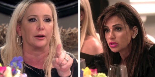 Shannon and Peggy arguing on The Real Housewives of Orange County