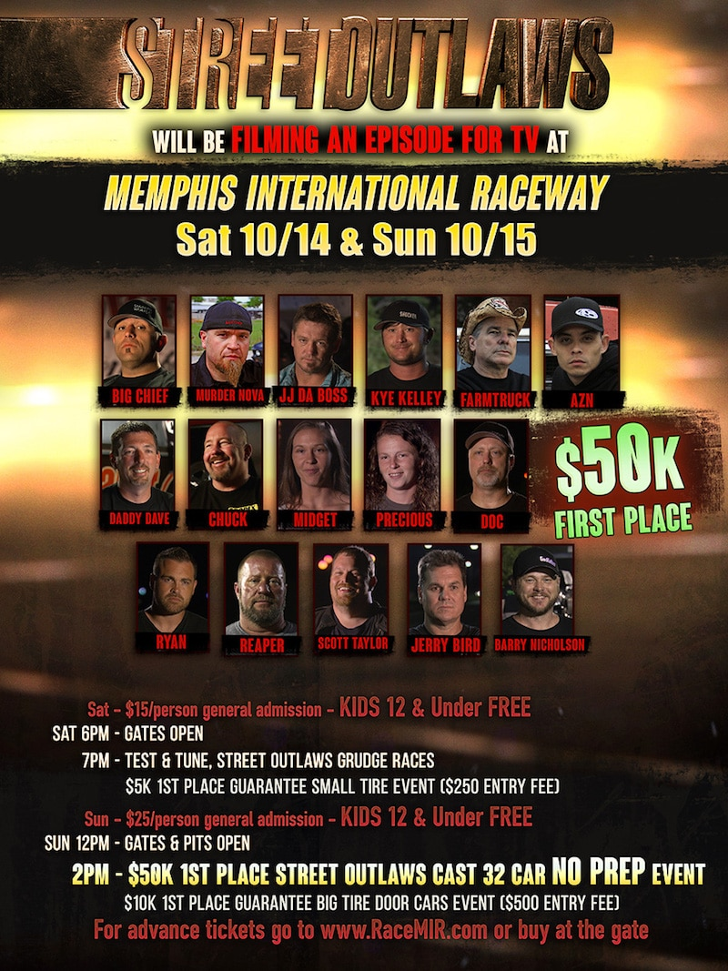 Street Outlaws Live event poster