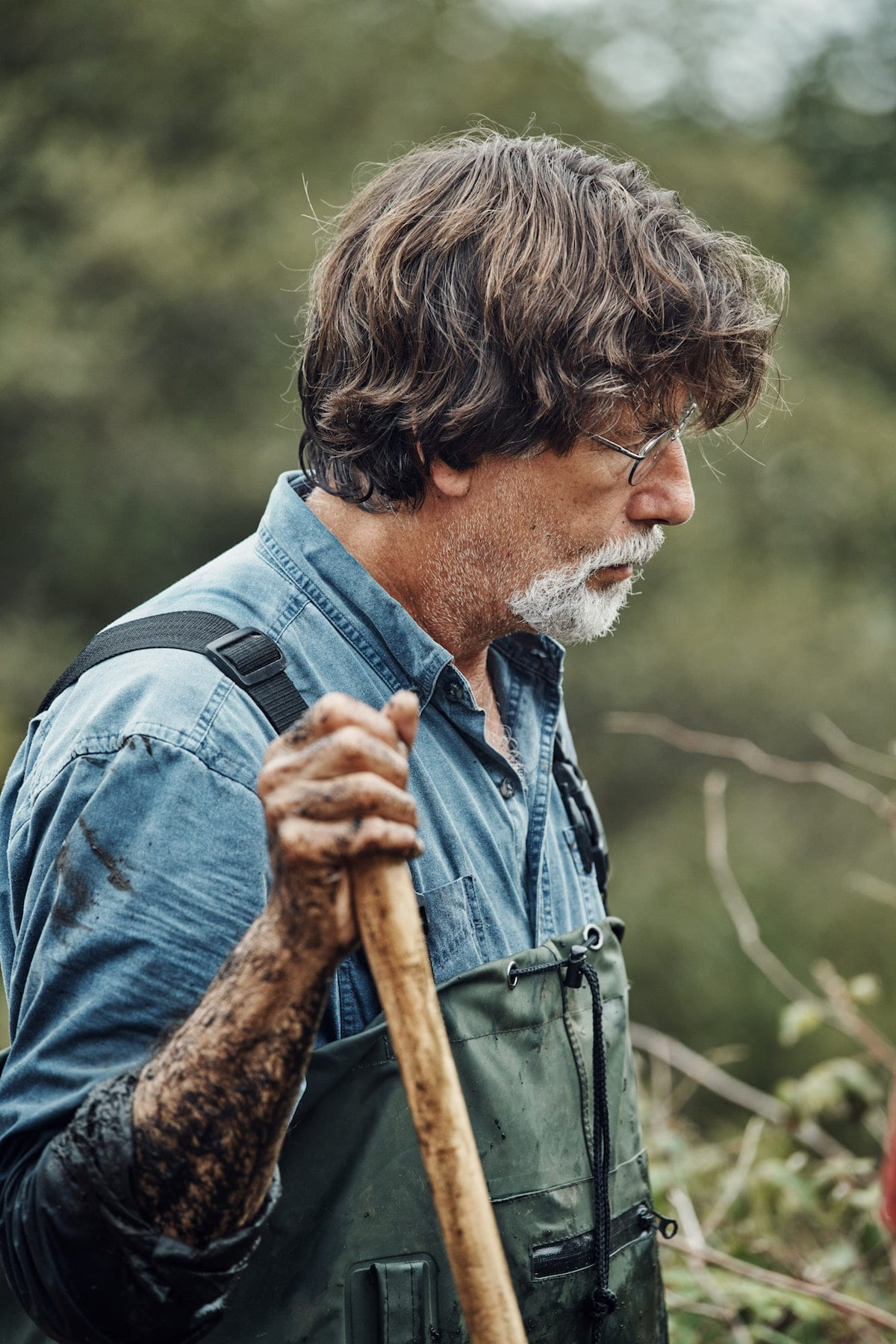 Rick at the swamp on on The Curse of Oak Island Season 5