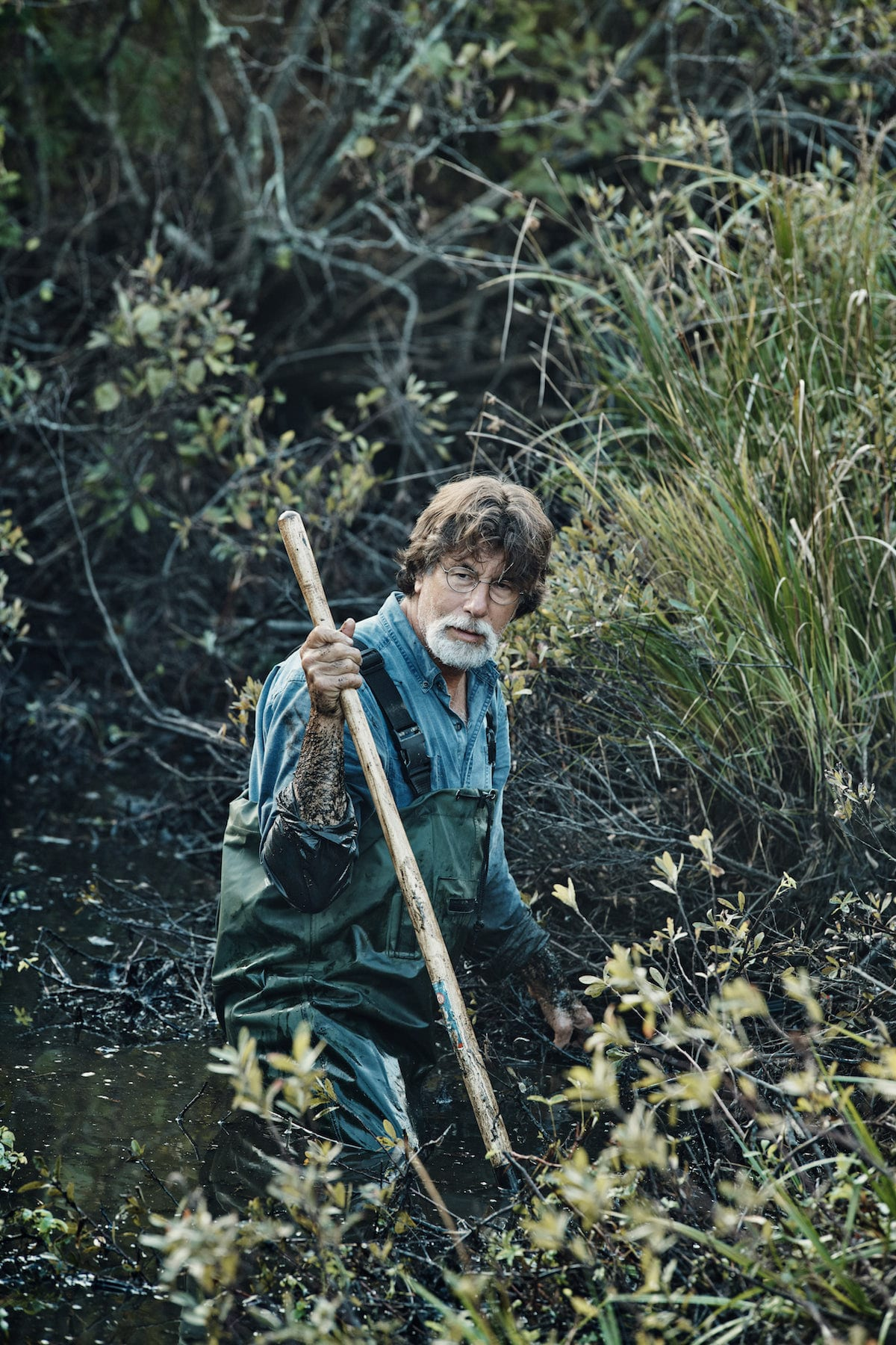 Rick in the swamp on on The Curse of Oak Island Season 5