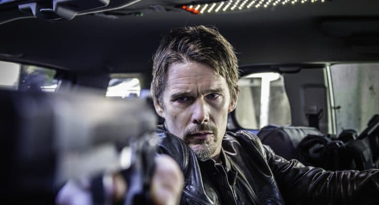 Which stunts did Ethan Hawke do in 24 Hours To Live?