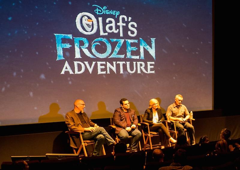 Josh Gad and Olaf's Frozen Adventure filmmakers