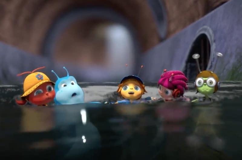 The Beat Bugs in a sewer