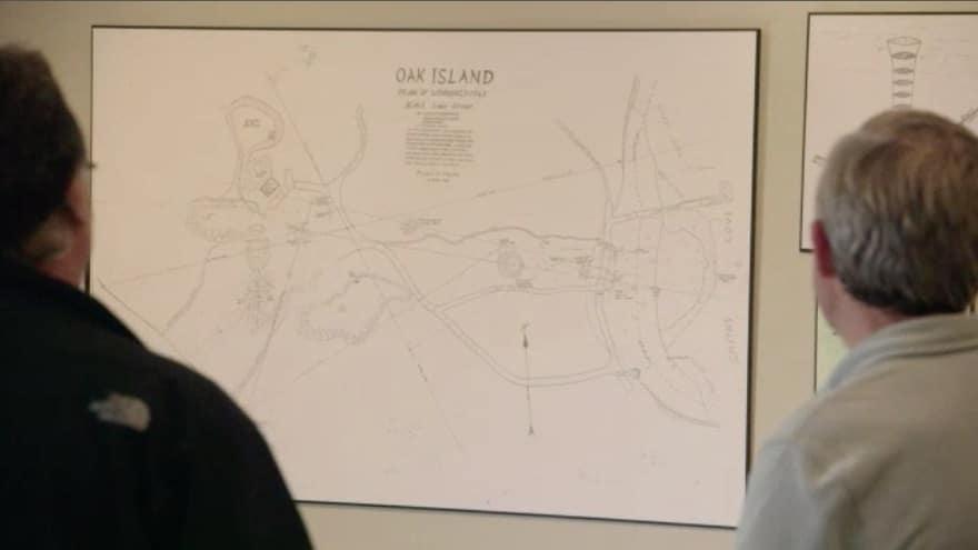 Map of Oak Island by Bobby Restall