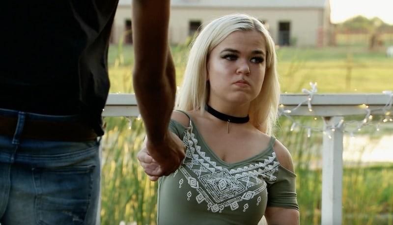 Caylea Woodbury handing back ring on Little Women: Dallas