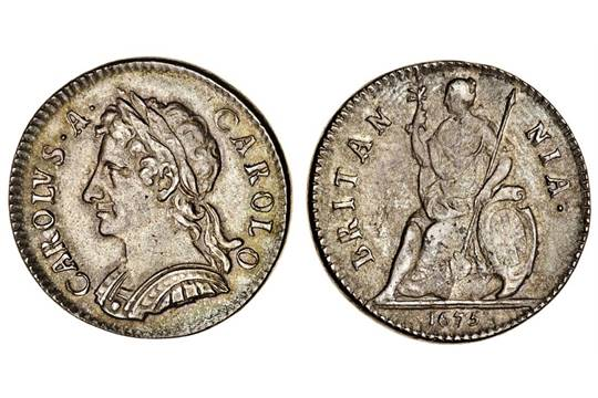 Both sides of the Charles II Farthing
