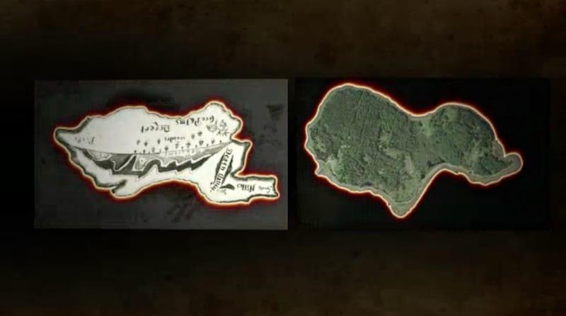 Skeleton Island and Oak Island