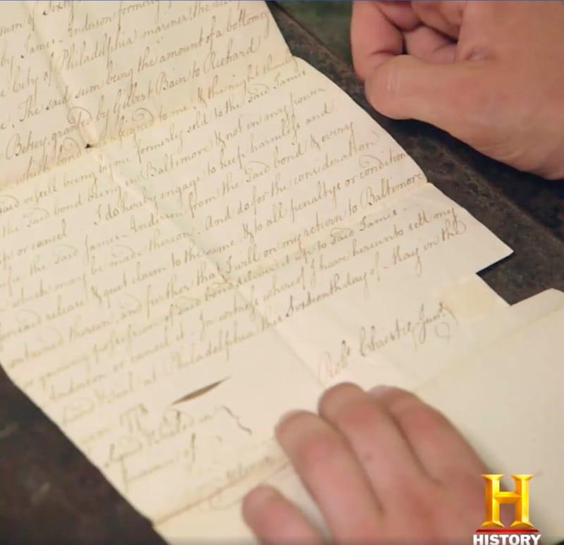 A historical letter on the Curse of Oak Island Season 5 trailer