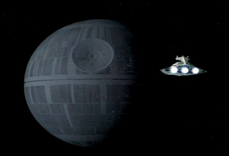 The Death Star in Star Wars: Episode IV - A New Hope