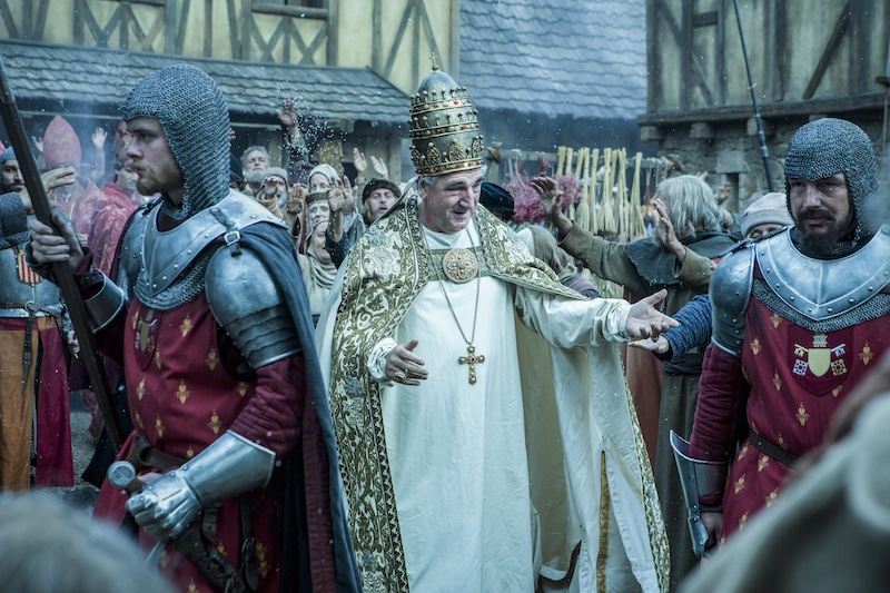 Pope Boniface VIII of France (Jim Carter) from HISTORY's New Drama Series Knightfall.
