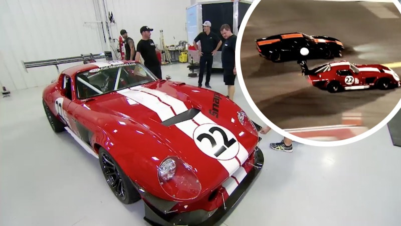 Joey Logano's Factory 5 Shelby Daytona and race on Fast N' Loud season finale
