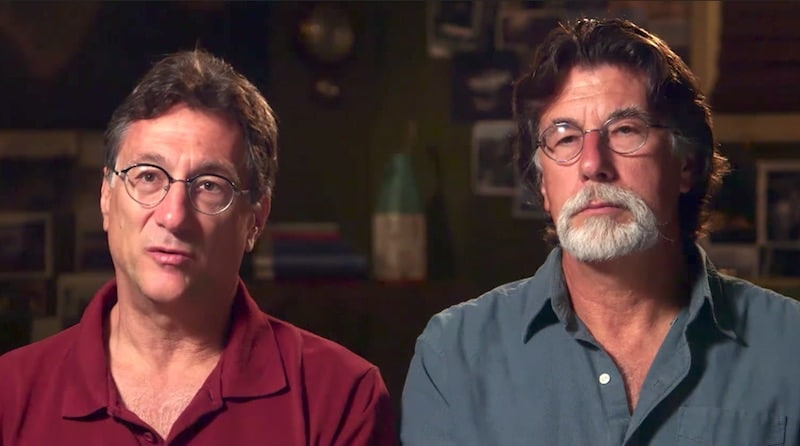 Marty and Rick Lagina talking to the camera on The Curse of Oak Island Season 5