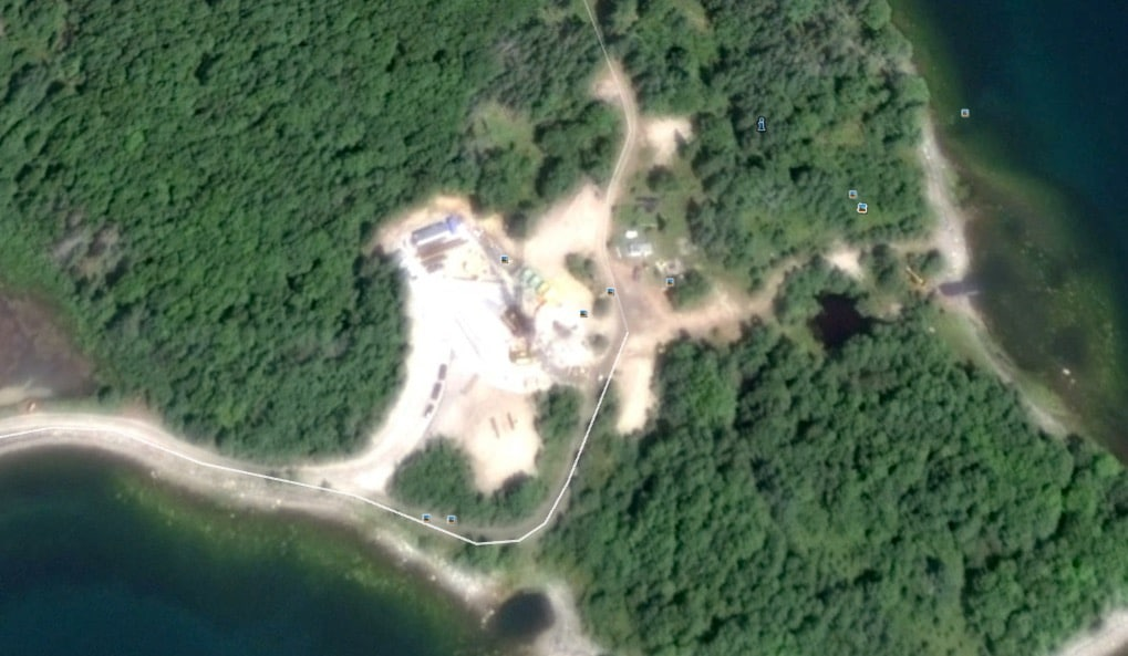 Oak Island Money Pit Aerial shot