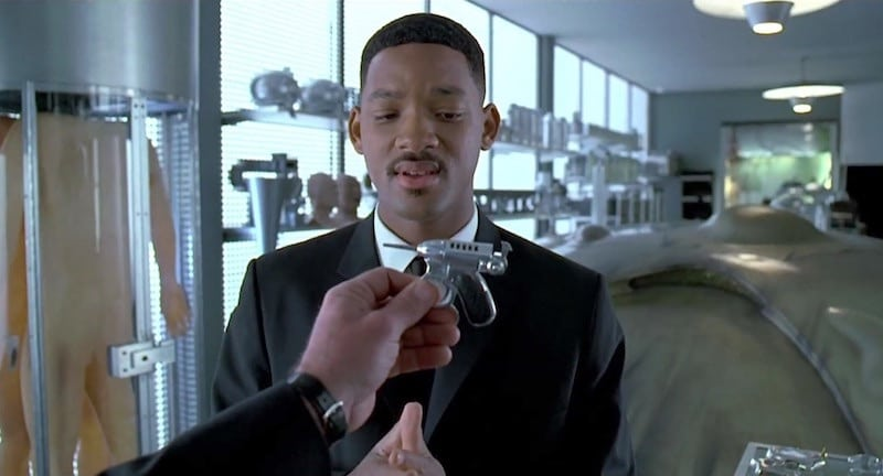 Will Smith's Agent J being handed the Noisy Cricket in Men in Black
