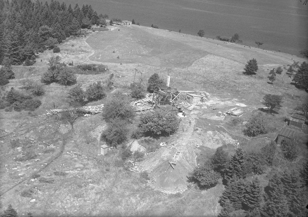 A view from the air taken in 1931, showing the extent of the work even back then