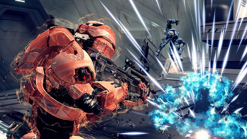 A depiction of a plasma grenade exploding in Halo 4