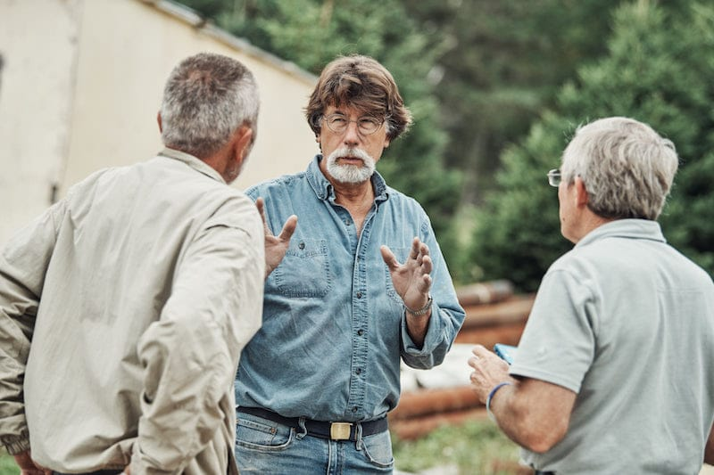 Rick Lagina talking to Dan Henskee and Craig Tester on The Curse of Oak Island Season 5