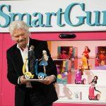 Richard Branson with a Smartgurlz robot on Shark Tank