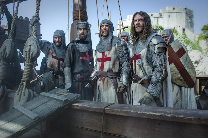 The Templars at the Battle of Acre from HISTORY's New Drama Series Knightfall.