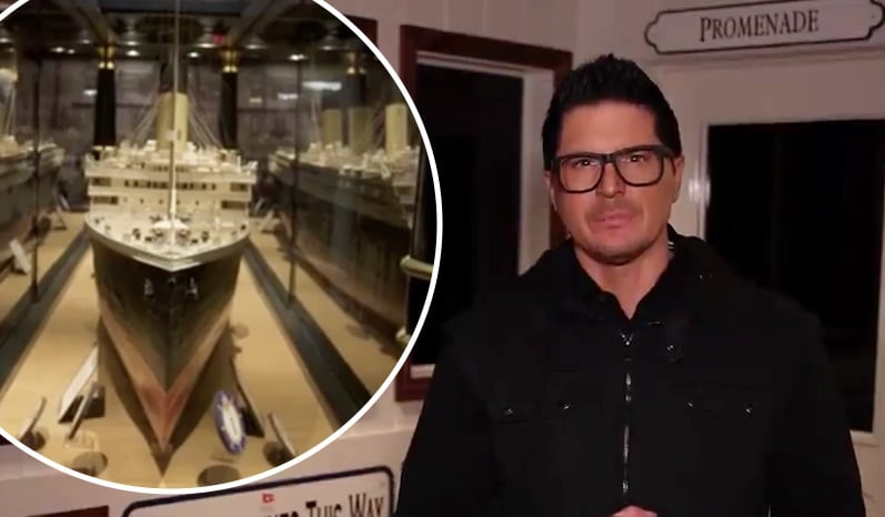 Zak Bagans at the Titanic Museum
