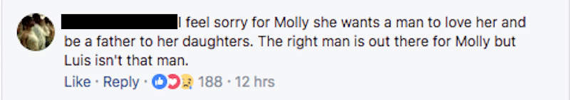 90 Day Fiance Facebook comment