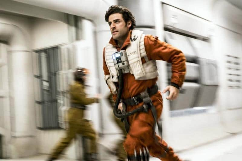Poe in Star Wars: The Last Jedi