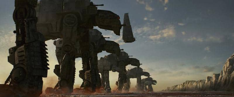 Star Wars: The Last Jedi marching At-Ats