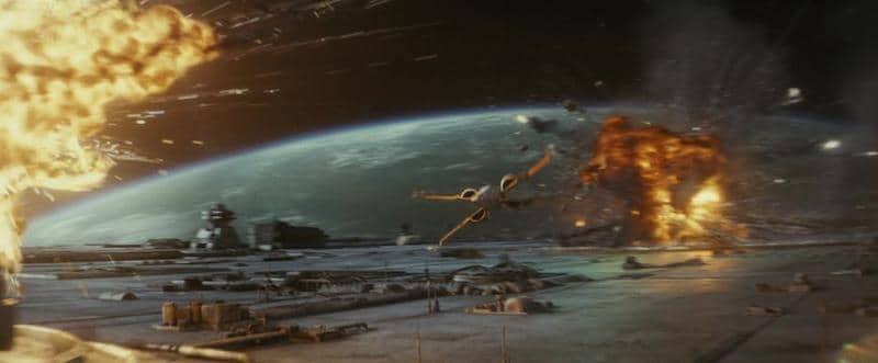 Last Jedi space battle