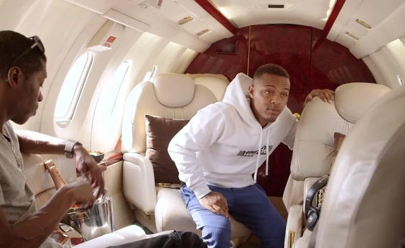 Shad Moss inside private jet on Growing Up Hip Hop: Atlanta Season 2
