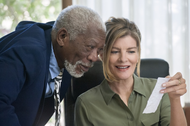Morgan Freeman and Rene Russo